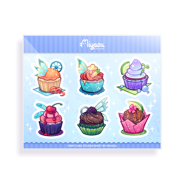 Fairy Cakes Sticker Sheet