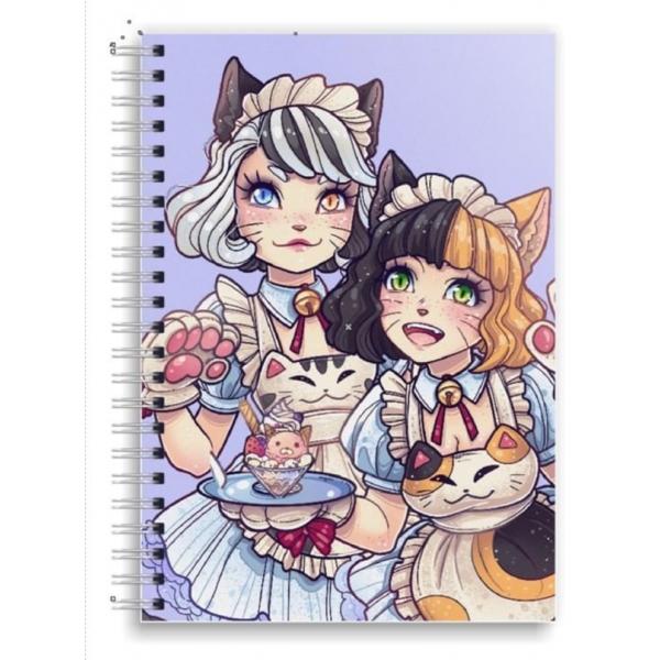 Ayu and Mio A5 Spiral Notebook